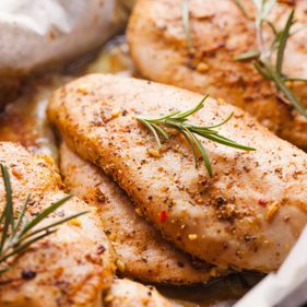 Marinated chicken fillets